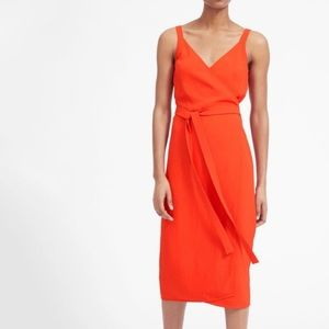 Everlane RED The Japanese GoWeave Wrap Dress 0026